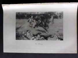 Aflalo 1898 Antique Print. Foxhunting